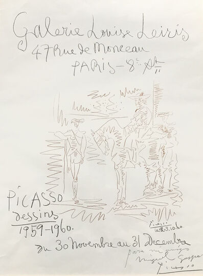 Pablo Picasso, 'PICASSO - DRAWINGS 1959-1960', 1960