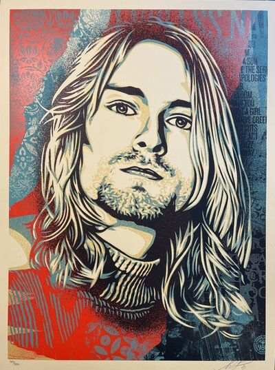 Shepard Fairey, 'Nirvana Kurt Cobain Endless Nameless Obey Giant Signed Poster by Shepard Fairey Print Contemporary Street Art ', 2021
