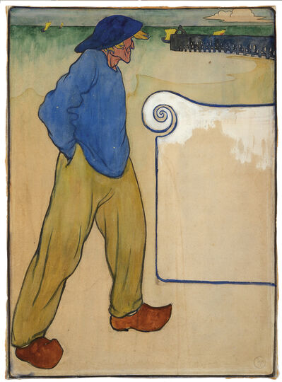 Henri Jacques Edouard Evenepoel, 'A Fisherman on a Beach'