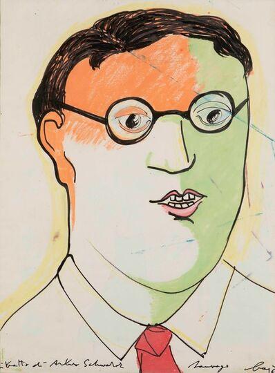 Enrico Baj, 'Ritratto di Arturo Schwarz', 1964