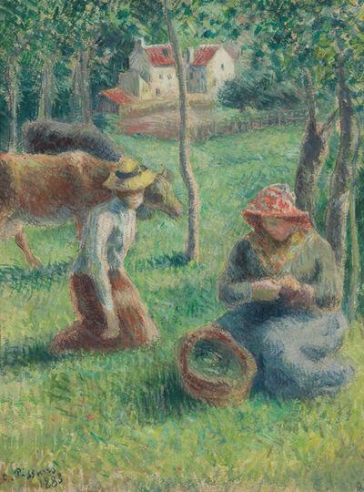 Camille Pissarro, 'Les Gardeuses de Vaches', 1883