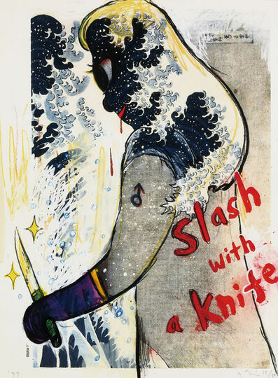 Yoshitomo Nara, 'Slash with a Knife (In the Floating World)', 1999