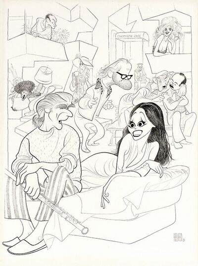 Al Hirschfeld, 'Thieves', 1974
