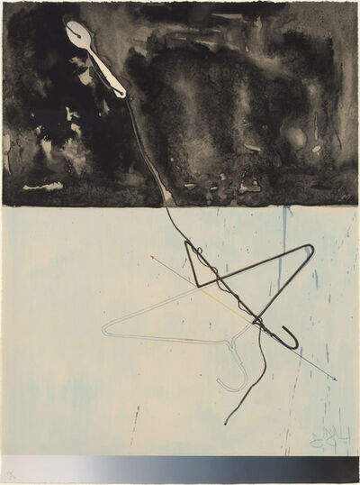 Jasper Johns, 'Coat Hanger And Spoon (Field 142; Ulae 96)', 1971