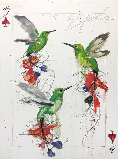 Michael Dickter, '3 of spades', 2018