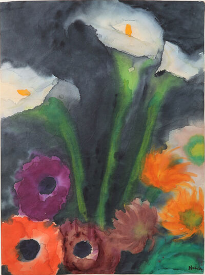 Emil Nolde, 'Lilien und Mohnblumen', 1925-1930