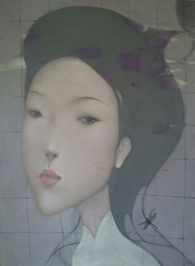 Nguyen Van Cuong, ''Elegance' Large Oil on Canvas Figurative Portrait Painting', 2016