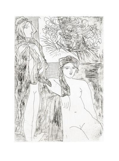 Pablo Picasso, 'Femme au Voile, Modèle assis et Tête de Rembrandt (S.V. 35)', 1934