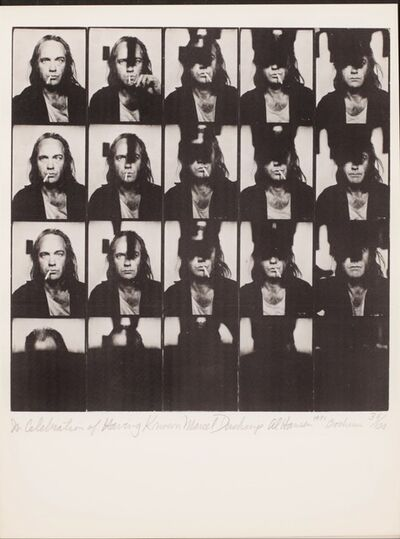 Al Hansen, 'In celebration of having known Marcel Duchamp', 1971
