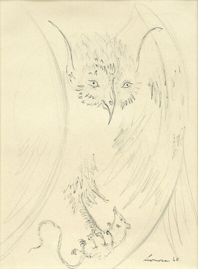 Leonora Carrington, 'Owl with Prey', 1960