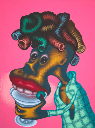 Peter Saul, 'Woman Drinking Martini', 2009
