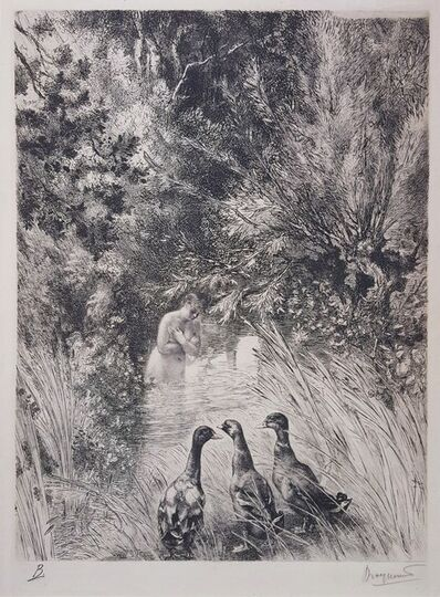 Félix Bracquemond, 'Canards Surpris', 1882