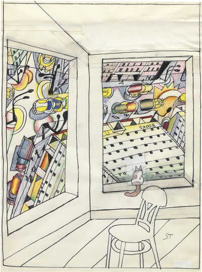 Saul Steinberg, 'Looking Down', 1988