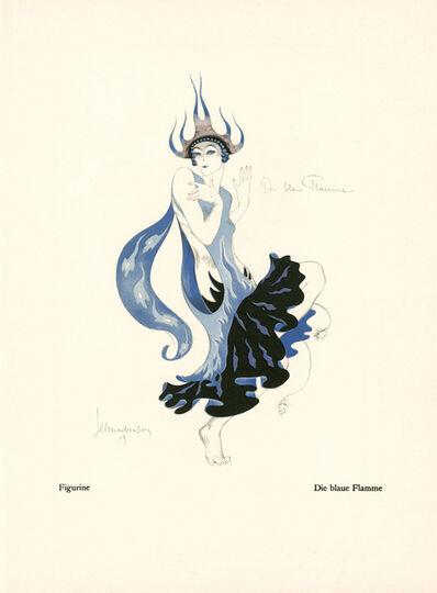 """Walter Schnackenberg, '""""The Blue Flame"""", Kostume, Plakate und Decorationen', 1920"""