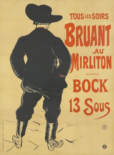 Henri de Toulouse-Lautrec, 'Bruant au Mirliton / Bock 13 Sous', 1893