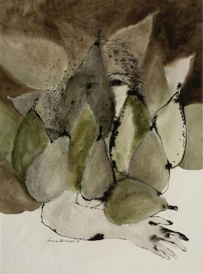 George Baldessin, 'Face with Pears', 1976