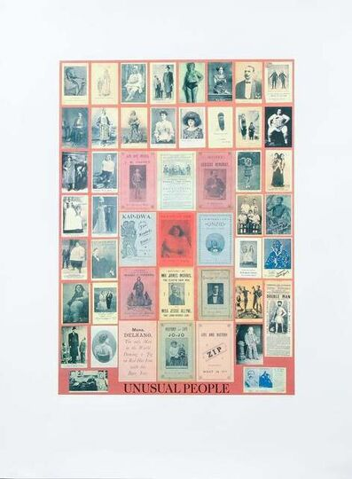 Peter Blake, 'U is for Unusual People (from The Alphabet Series)', 1991