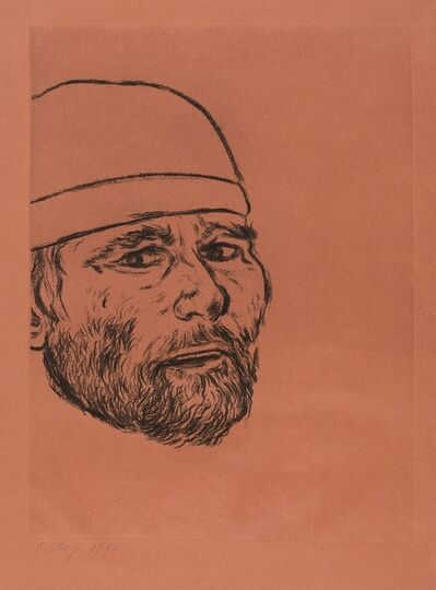 R. B. Kitaj, 'Self Portrait (after Matteo) (Kinsman 119)', 1982