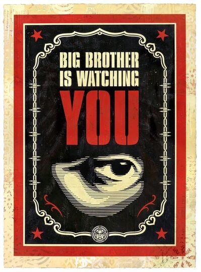 Shepard Fairey, 'Big Brother Is Watching You, HPM', 2019