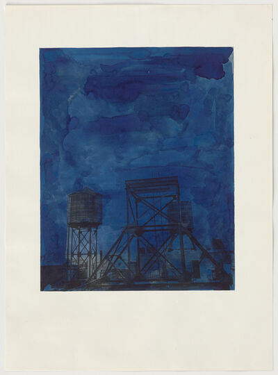 Rachel Whiteread, 'Water Tower at Night', 1998