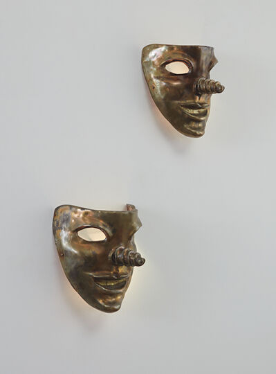 Elizabeth Garouste and Mattia Bonetti, 'Pair of mask-form wall lights', ca. 1987