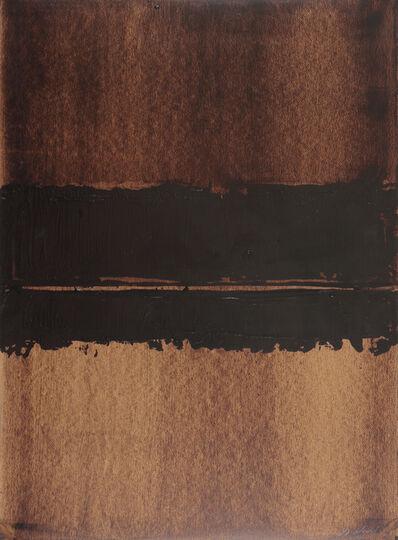 Pierre Soulages, 'Walnut stain, 76 x 54 cm', 1999