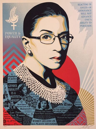 Shepard Fairey, 'A Champion of Justice Ruth Bader Shepard Fairey Print Signed & Numbered Politics ', 2021