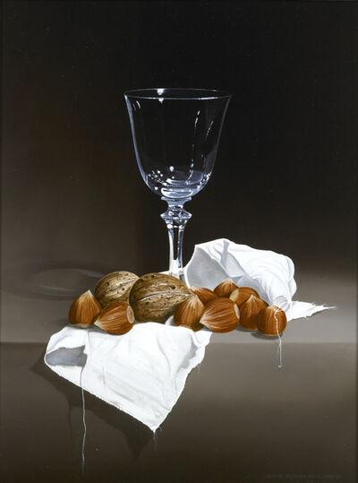 Guy de Jaegher, 'Wine glass with hazelnuts'