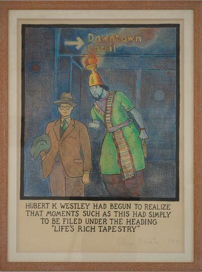 "Glen Baxter, '""Hubert K Westley had begun to realize ...""', 1990"
