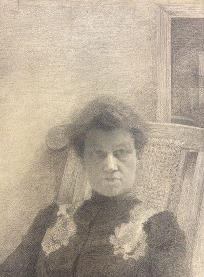 Cécile Cauterman, 'Self portrait', ca. 1900