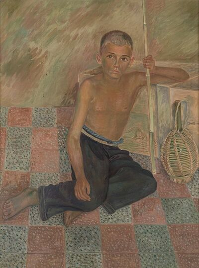 Gino Severini, 'Pastorello seduto', 1939