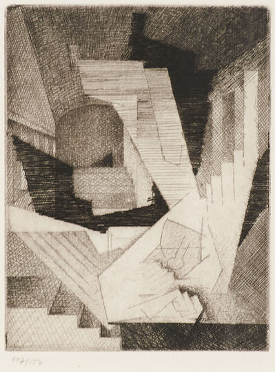 Louis Marcoussis, 'Une Reve from Ten Etchings for Aurelia', 1930