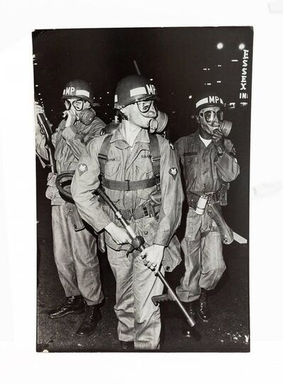 Fred W. McDarrah, 'Large Vintage Print Silver Gelatin Signed Photograph, August 1968 National Guard', 20th Century