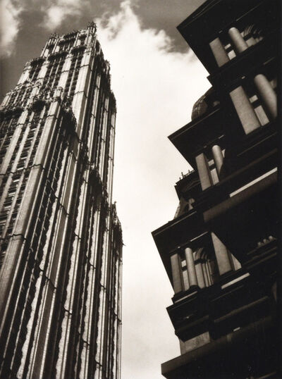 Ralph Steiner, 'High Rise Buildings with Clouds', 1922