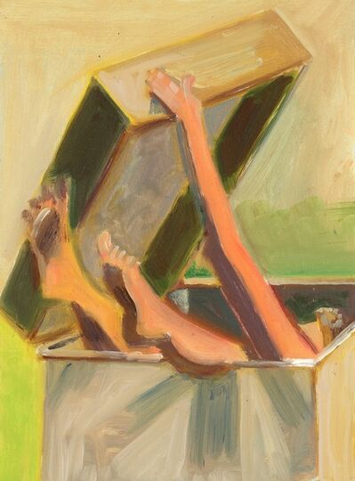 Lois Dodd, 'Nude Lifting Lid', 2014