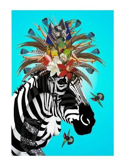 Jana Nicole, 'Animal Attraction. Limited Edition Print of 25. 24 KARAT GOLD Good Art Reviews', 2017