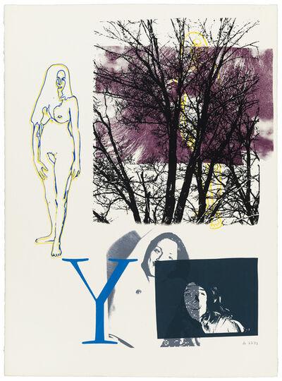 """Dick Higgins, '7-7-73 (#411) """"Y""""', 1973"""