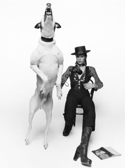Terry O'Neill, 'David Bowie Working on the Album Cover for Diamond Dogs, London', 1975
