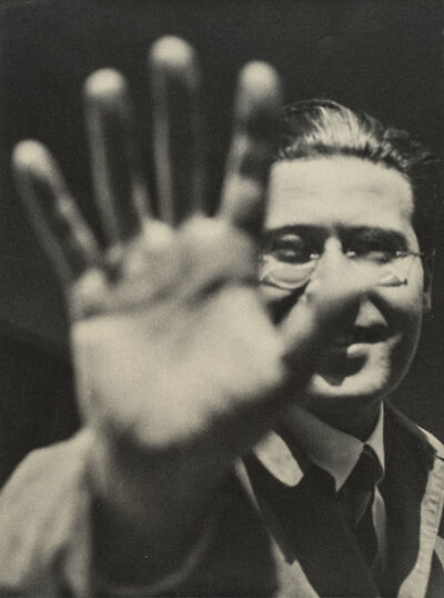 László Moholy-Nagy, 'Self-Portrait with Hand', 1925-1929