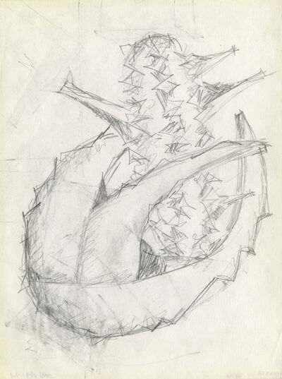 Seymour Lipton, 'Preliminary drawing for a sculpture', 20th century