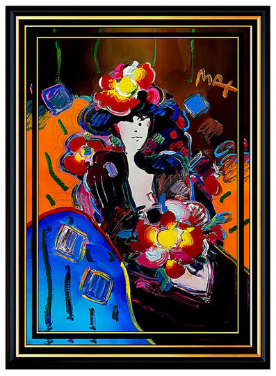 Peter Max, 'ORIGINAL POP ART LADY with FLOWERS', 1998