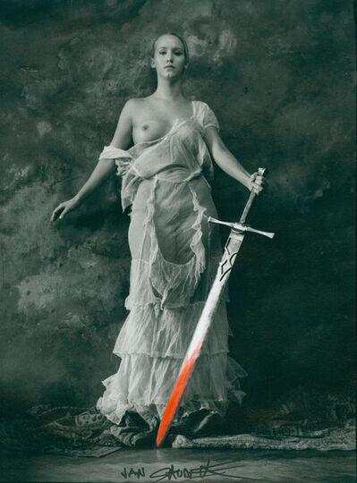 Jan Saudek, 'Girl with sword', 1998