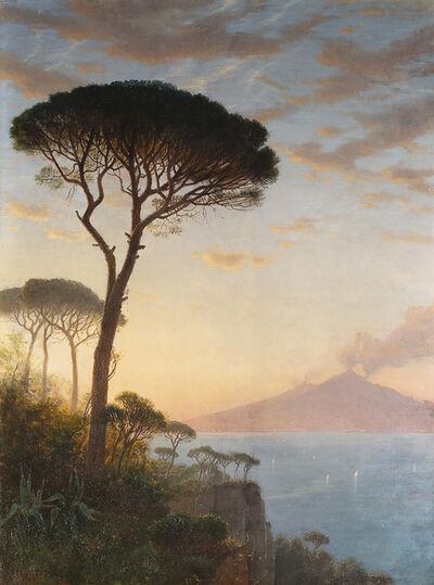 William Stanley Haseltine, 'Vesuvius at Dusk', 1872