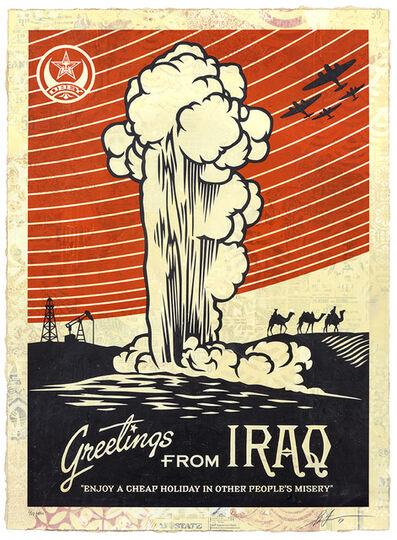 Shepard Fairey, 'Greeting from Iraq', 2019