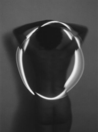 Erich Hartmann, 'laser light on nude (Vintage Print/ Handprinted by the artist)', 1978