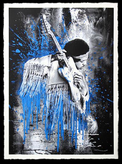 Mr. Brainwash, 'JIMI HENDRIX (BLUE)', 2015