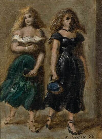 Reginald Marsh, 'Two Young Women', 1948