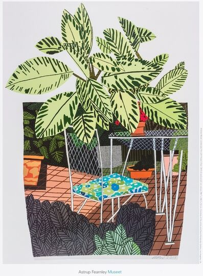 After Jonas Wood, 'A Poster for Landscape Pot With Flower Chair', 2016