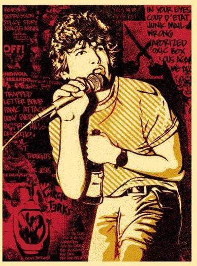 Shepard Fairey, 'KEITH MORRIS (RED)', 2013