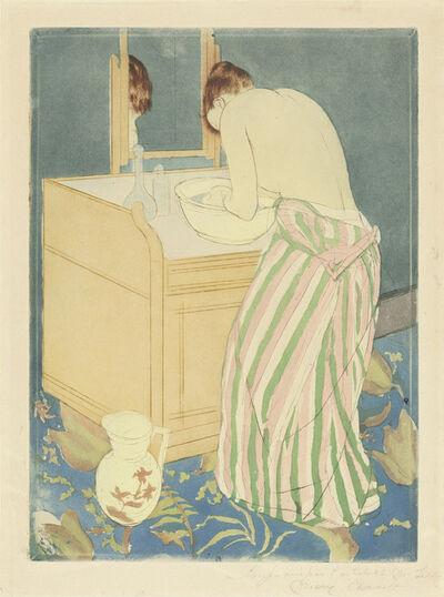 Mary Cassatt, 'Woman Bathing', 1890-1891